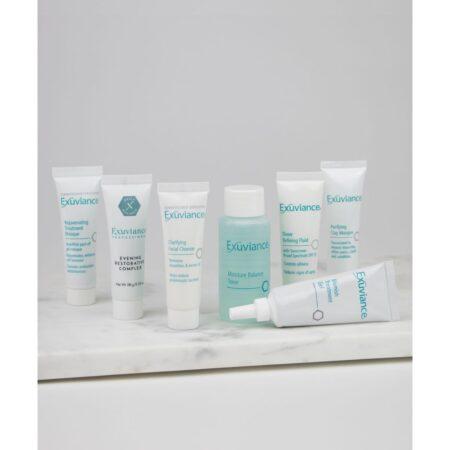 Akne Kit Exuviance er et opstarts eller rejsekit til hud med akne eller fedtet hud