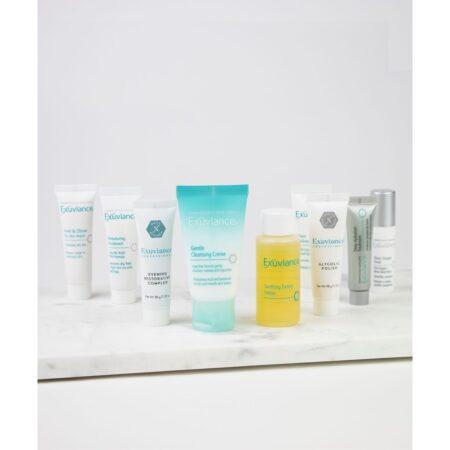 Sensitiv/Tør Kit Exuviance er et rejse eller startkit til den sensitive og tørre hud