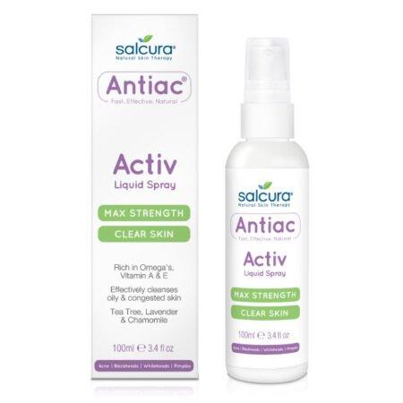 Antiac activ liquid spray er en spray til urenheder i ansigt og krop