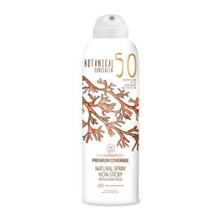 Botanical Sunscreen Spray trænger hurtigt ind i kroppen og er ikke fedtet på din hud. Sprayen forstøver blidt en mist henover kroppen, i et tyndt lag. Sprayen indeholder både UVA og UVB beskyttelse, i faktor 15 og 50.