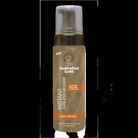 Eksklusiv selvbruner mousse der øjeblikkeligt giver farve