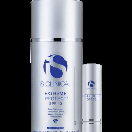 En perfekt duo af solbeskyttelse med SPF40 og læbepomade med SPF35